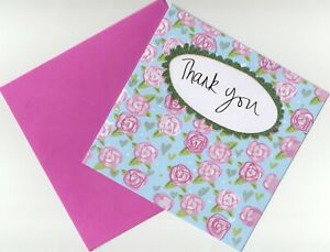 'THANK YOU' GREETING CARD BY MARK YOUR CARDS - QUALITY - GLITTERY - FREE P&P