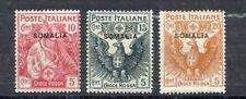 ITALIAN SOMALILAND--Short Set of Semi-Postals Scott #B1-#B3