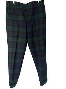 Brooks Brothers Vintage Cuffed Plaid Pants 34 Waist
