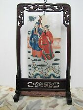 Antique Chinese Mid 19th Century Glass Reverse Painting.