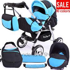Pushchair  3in1 Car Seat  Baby Pram  Stroller  Buggy Travel System Julia 90 Cols