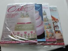 4 x CAKE CRAFT AND DECORATION MAGAZINES 2013