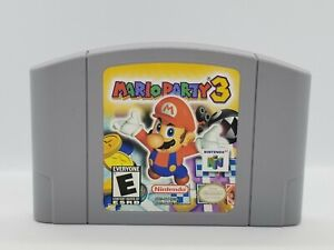 Mario Party 3 (Nintendo 64, 2001) Guaranteed AUTHENTIC & Tested N64!