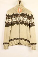 GORGEOUS Mens RALPH LAUREN Cardigan FESTIVAL HAND KNIT Sweater XL SLIM Fit P45