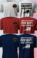 New County of LA Los angeles LifeGuard Fire Department LAPD T SHirt S-4XL