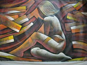 CARIBBEAN EROTIC  Art  Painting Acrylic on canvas