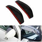 2PCS Car Rear View Side Mirror Rain Board Sun Visor Shade Shield Black EOA