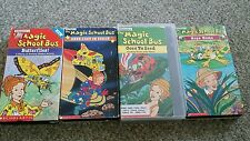 Magic School Bus VHS Tape lot of 4 Butterflies ~Goes to seed~Hops Home ~Space
