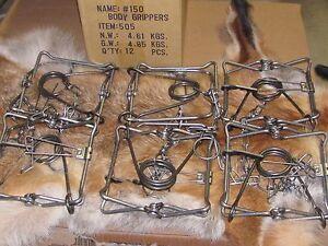 12 Bridger 150 Magnum Body GrippersTraps 505  Muskrat  Mink Fisher new sale