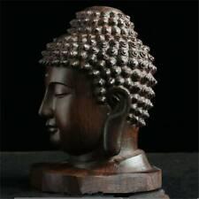 Hand Carved Redwood Crafts-Sakyamuni-Head Buddha Statue Tathagata Sculpture NEW