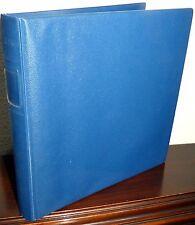 Lindner Ringbinder Binder Album blau gebraucht (70