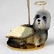 Dandie Dinmont Terrier Dog Figurine, Angel Ornament