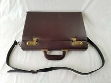 Pedano brown leather combination briefcase locking excellent works with combo.