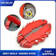 4x RED 3D Style Car Auto Universal Disc Brake Stop Caliper Covers Front & Rear