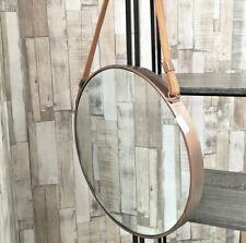 Damaged Mirror Frame Only Industrial Round Wall Mounted Rustic Metal