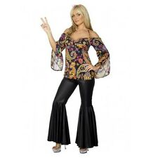 FEMALE GROOVY HIPPIE COSTUME - WOMENS SIZE MEDIUM - MELBOURNE LOCATION