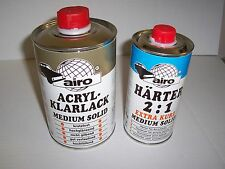 2K MS Clearcoat Lacquer Pack 1 lt Clear + 0.5lt Extra Fast Hardener  Air Dry