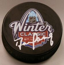 DARREN PANG SIGNED 2017 WINTER CLASSIC HOCKEY PUCK 1008098