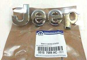 Jeep Grand Cherokee front hood chrome Nameplate Emblem new OEM 55157089AC