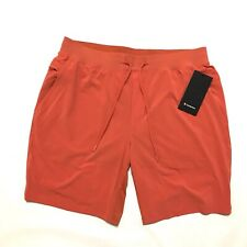 "Lululemon 2XL Mens THE Shorts 9"" Inseam Lined Brik Orange"