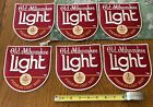 """Rare """"NEW"""" Vintage """"OLD MILWAUKEE LIGHT BEER """"6 Jacket Patch Lot - Free Shipping"""