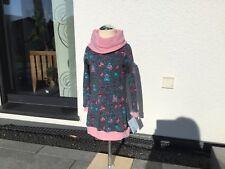 Farbenmix Ballonkleid Winter Kleid Kuschelkragen Handmade Größe 110 NEU