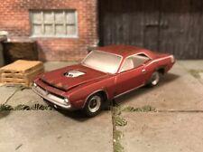 1970 Plymouth Cuda Rusty Weathered Barn Find Custom 1/64 Diecast Car Farm Rust