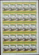 1907 GWR LODE STAR Class 4000 4-6-0 Train 50-Stamp Sheet (Leaders of the World)