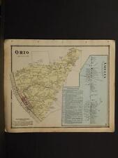 Ohio Clermont County Map  Ohio Amelia Townshhip 1870 W1#44