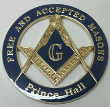 Prince Hall Affiliated Masonic Car Emblem in Blue