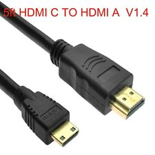 Mini HDMI C TO HDMI A  Cable For JVC Everio GZ-HM35 BU/S GZ-HM35 AU/S GZ-HM35RUS