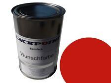 1 Liter Spritzfertigen Basislack RAL 3020 Verkehrsrot Autolack Lackpoint !