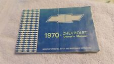Vintage 1970 Chevrolet Owners Manual Pre Owned