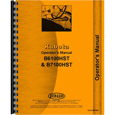 New Operators Manual Made for Kubota Tractor Model B7100HST-E