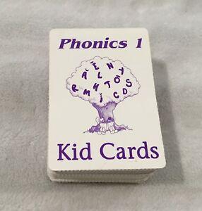 SAXON PHONICS / SET OF 120 KID CARDS / PHONICS 1 / PURPLE CARDS