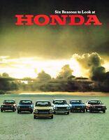 1978 HONDA Brochure/Pamphlet: ACCORD,CVCC,Station Wagon,CIVIC,HATCHBACK,LX,Sedan