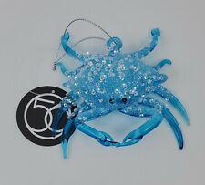 Dept 56 Coast Sequined Crab Glass Nautical Christmas Ornament 6007877