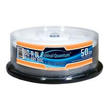 25 Optical Quantum 6x 50GB Blu-ray BD-R DL White Inkjet Print OQBDRDL06WIPH-25
