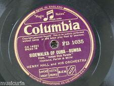 78rpm HENRY HALL ORCH sidewalks of cuba / samum  FB 1035