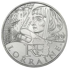 10 euros des régions personnages en argent Lorraine 2012