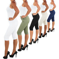 Damen Hose bis Übergröße Stretch Capri Kurze 3/4 Jeans Shorts Bemuda Hüft Sommer