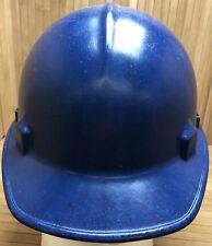 Vintage JACKSON Products Fiberglass Blue Hard Hat Helmet Hard Top Class A & C