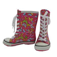 MaxiMo Gummistiefel Regenstiefel Mädchen Kinder Wasserdicht Pink Gr. 27, 28