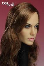 "CGL 12"" Female Head Sculpt Action Figure Body 1:6 Scale Angelina Jolie Girl F"
