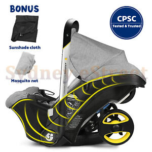 Baby Infant Car Seats Stroller Combos 4 in 1 for newborn light weight travel Gra