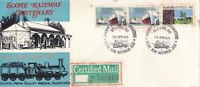 Stamps Scone Railway Centenary Celebrations commemorative postmarks cover