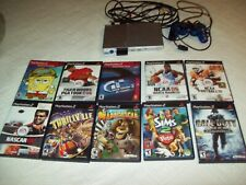 Sony PlayStation 2 Slim Satin Silver Console bundle 10  Game Lot