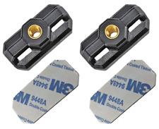 "AttachMount Cable Zip Tie Mount Bracket Threaded 1/4""-20 & Adhesive Foam 2 Sets"