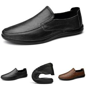 Mens Driving Moccasins Comfy Breathable Faux Leather Slip on Loafers Shoes Hot L