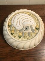 HIMARK Japan Ceramic Mold Sheep Tulips Kitchen Wall Decor MINT